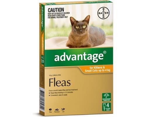 Advantage Flea Treatment for Kittens and Cats Under 4kg, 4 Months Supply OrangeAdvantage spot-on flea...