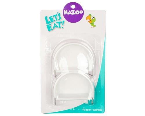 KAZOO BIRD FEEDER D-SHAPE WHITE MEDIUM 2PKThe Kazoo D-Shaped Bird Feeder is a feeder that is designed...