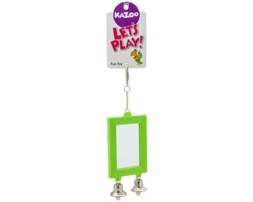 KAZOO BIRD MIRROR RECTANGULAR WITH BELLS If there are two things that birds love playing with more...