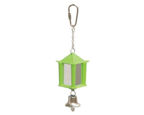 KAZOO BIRD MIRROR LANTERN WITH BELL GREEN/PURPLE If your bird loves checking themselves out in the...