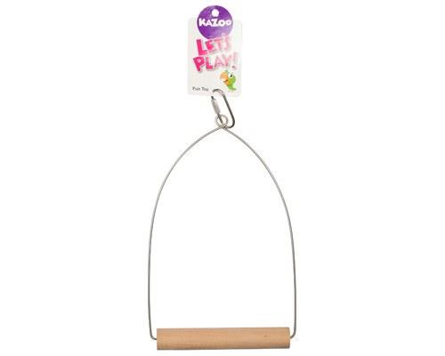 KAZOO BIRD SWING WOODEN LARGEGreat for medium and large size birds, the Bird Swing from Kazoo is a fun...