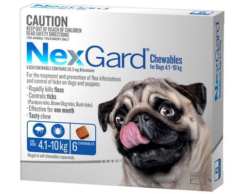 NexGard for Dogs Tick and Flea Treatment, 4.1-10kg, Blue, 6 PackRecommended for:Dogs weighing...