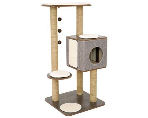 LULU'S WORLD CUBOX HIGH BASE CAT SCRATCHER GREYIn Lulu's World, every cat has their dream cat...