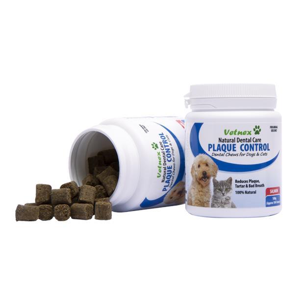 Vetnex Natural Dental Care Plaque Control Soft Chews Salmon 100g (100 Chews) Pet: Dog Category: Dog...