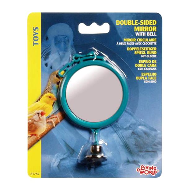 Living World Plastic Double Sided Mirror Each Pet: Bird Category: Bird Supplies  Size: 0.2kg  Rich...