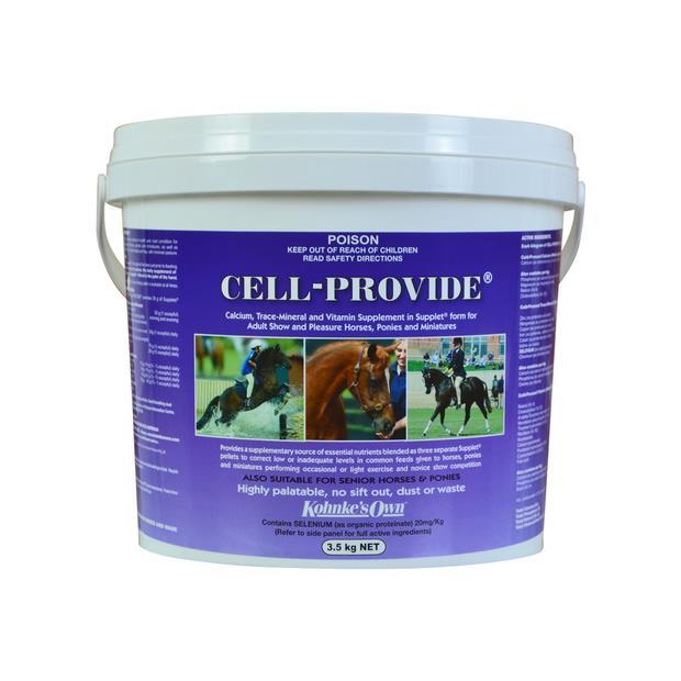Kohnkes Own Cell Provide 3.5kg Pet: Horse Size: 3.7kg  Rich Description: Suitable for lightly worked...