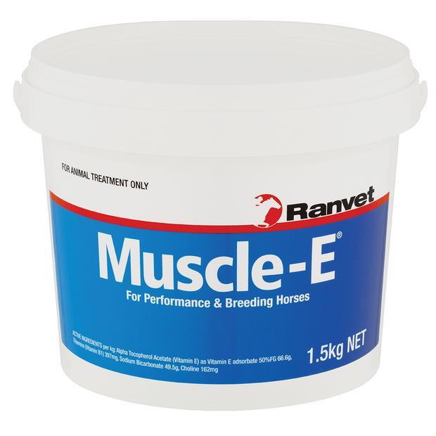 Ranvet Muscle E 1.5kg Pet: Horse Size: 1.6kg  Rich Description: Suitable for horses with muscle...