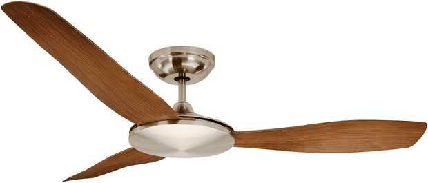 This Mercator ceiling fan's 1300mm blade diameter allows you to relax under the perfect-size fan. Go...
