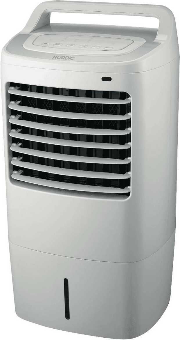 You can stay cool longer with this Nordic evaporative cooler's 10 litre water tank capacity. It has 3...