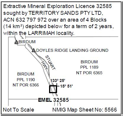 NOTICE OF MINERAL TITLE APPLICATIONS MINERAL TITLES ACT 2010 SECTION 71  Objections or Submissions to...