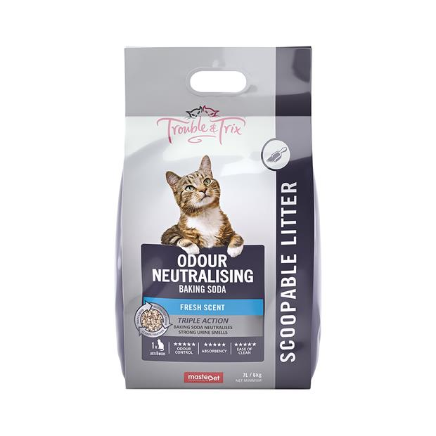 Trouble And Trix Clumping Litter Baking Soda 15L Pet: Cat Category: Cat Supplies  Size: 12.8kg  Rich...