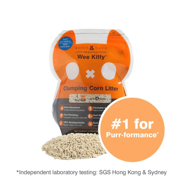 Rufus And Coco Wee Kitty Clumping Corn Litter 9kg Pet: Cat Category: Cat Supplies  Size: 9kg Material:...