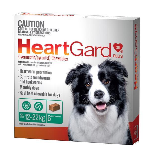 Heartgard Plus Med Dog Green 6 Pack Pet: Dog Category: Dog Supplies  Size: 0.1kg  Rich Description:...