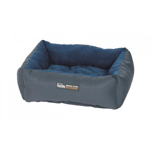Petlife Self Warm Cuddle Bed Blue Charcoal Smallmedium Pet: Dog Category: Dog Supplies  Size: 0.1kg...