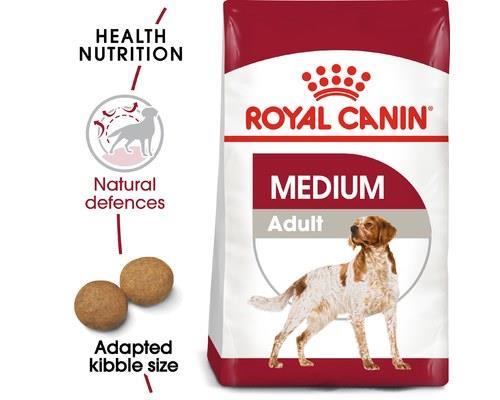 Royal Canin Medium Adult Dog Food, 15kgRecommended for medium dogs (11-25kg) this Royal Canin dog food...