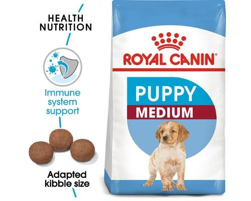 ROYAL CANIN MEDIUM JUNIOR PUPPY FOOD 15KGRecommended for medium breed puppies (11-25kg adult weight)...
