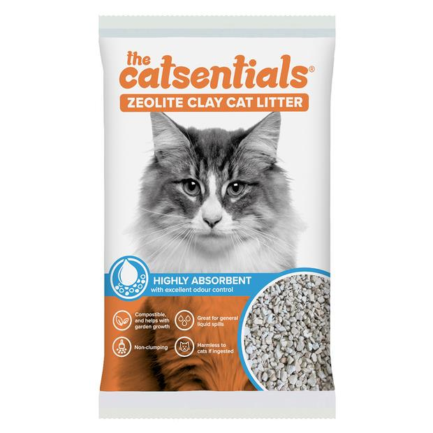 The Catsentials Absorbing Natural Zeolite Clay 15L Pet: Cat Category: Cat Supplies  Size: 9.3kg...