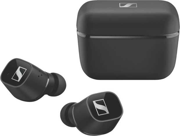 You can comfortably wear them all day with these black Sennheiser headphones' earbud design. Their...
