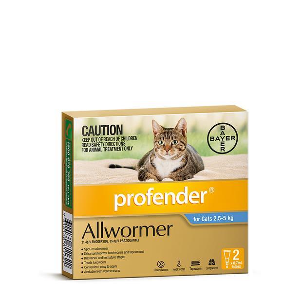 Profender Spot On Cat Medium Blue 2 Pack Pet: Cat Category: Cat Supplies  Size: 0.1kg  Rich...