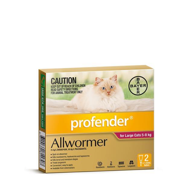 Profender Spot On Large Cat Red 2 Pack Pet: Cat Category: Cat Supplies  Size: 0.1kg  Rich Description:...
