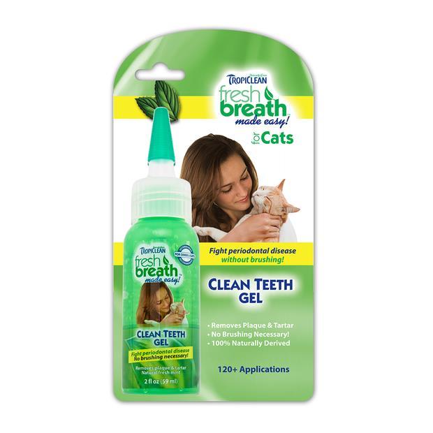 Tropiclean Cat Clean Teeth Gel 59ml Pet: Cat Category: Cat Supplies  Size: 0.1kg  Rich Description:...