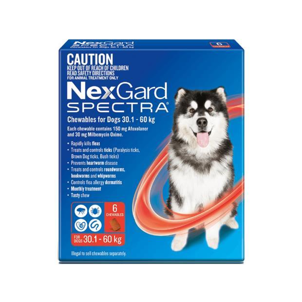 Nexgard Spectra Very Large Dog 2 X 6 Pack Pet: Dog Category: Dog Supplies  Size: 0.4kg  Rich...