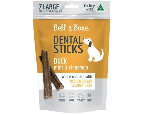 BELL AND BONE DENTAL STICK DUCK MINT AND CINNAMON LARGEContaining active ingredients that remove plaque...