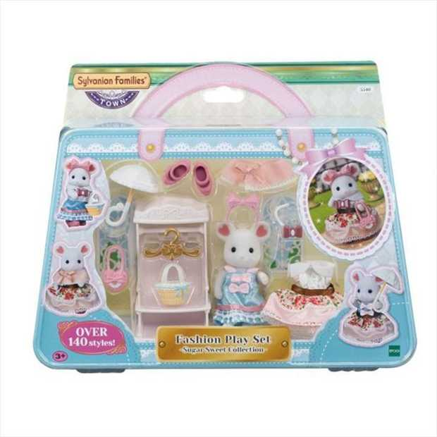 The Fashion Play Set - Sugar Sweet Collection- includes Marshmallow Mouse older sister, clothing, a...