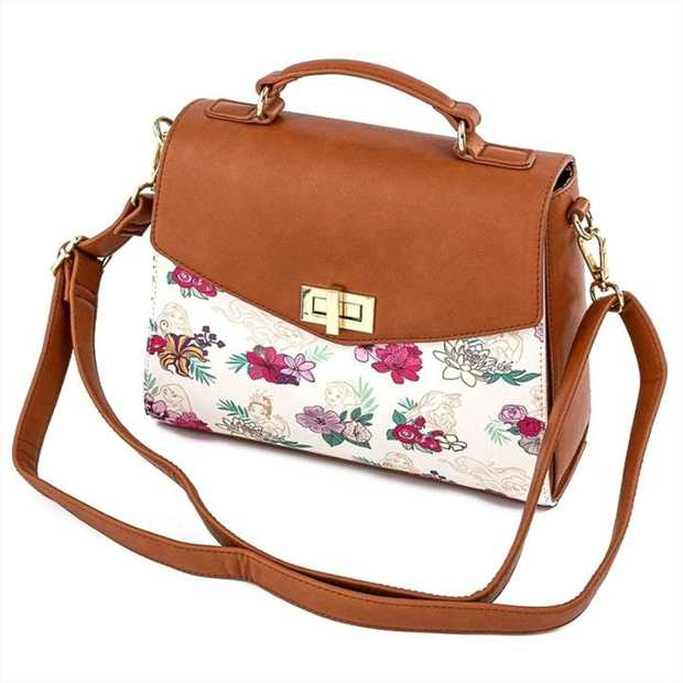 Loungefly - Disney Princesses Floral Crossbody Bag