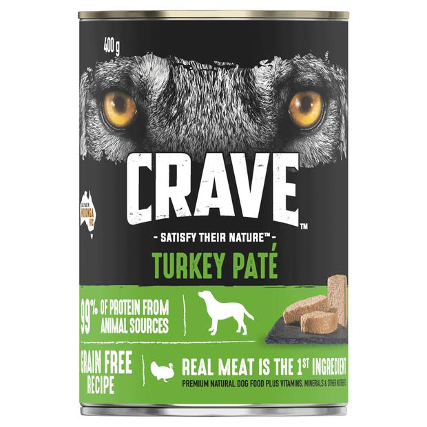 Crave Wet Dog Food Turkey Pate Can 24 X 400g Pet: Dog Category: Dog Supplies  Size: 11.5kg  Rich...