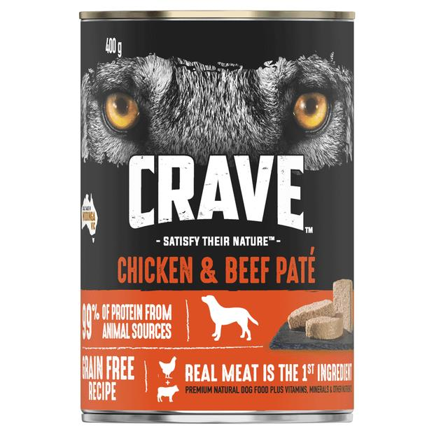 Crave Wet Dog Food Chicken And Beef Pate Can 24 X 400g Pet: Dog Category: Dog Supplies  Size: 11.5kg...