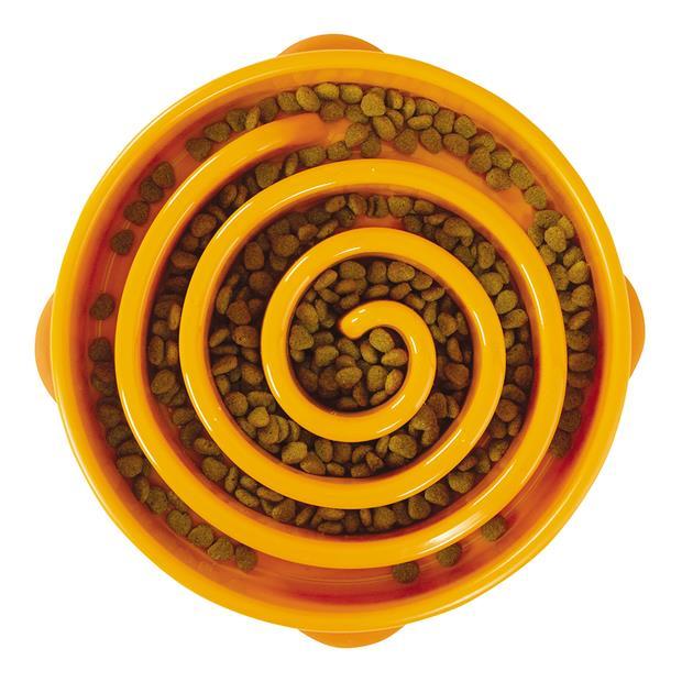 Outward Hound Fun Feeder Slo Bowl Orange Medium Pet: Dog Category: Dog Supplies  Size: 0.3kg Colour:...