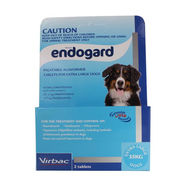 Virbac Endogard Wormer Extra Large Dog 2 Pack Pet: Dog Category: Dog Supplies  Size: 0.1kg  Rich...