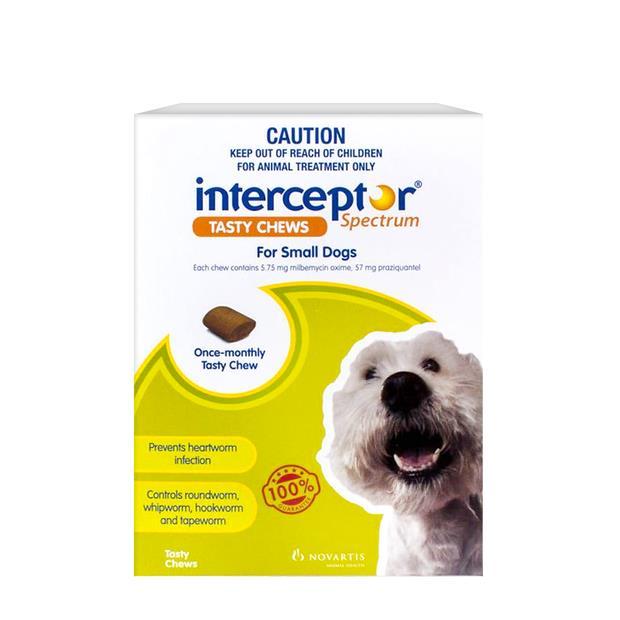 Interceptor Spectrum Chews Small Green 2 X 6 Pack Pet: Dog Category: Dog Supplies  Size: 0.4kg  Rich...