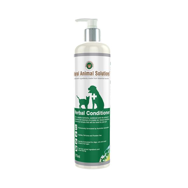Natural Animal Solutions Herbal Conditioner 375ml Pet: Dog Category: Dog Supplies  Size: 0.4kg  Rich...