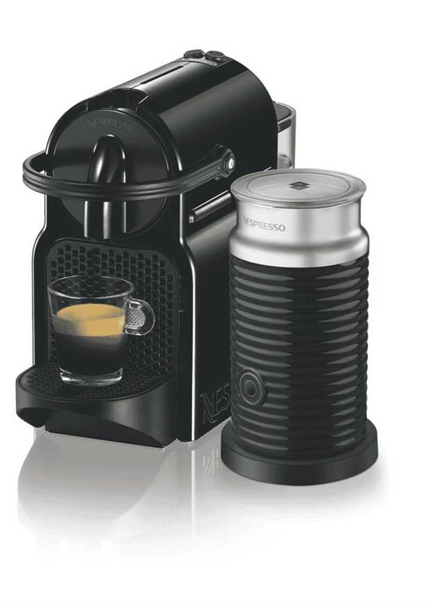 Brew espresso drinks in your own home with this Nespresso coffee machine's espresso maker. It has a...
