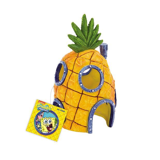 Penn Plax Spongebob Squarepants Pineapple Home With Swim Through Holes Resin Replica Each Pet: Fish...