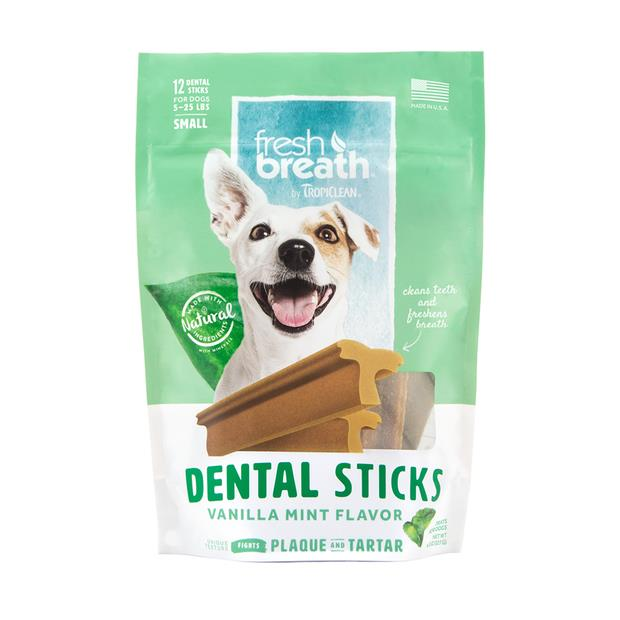 Tropiclean Fresh Breath Dental Stick Vanilla Mint Regular Pet: Dog Category: Dog Supplies  Size: 0.3kg...