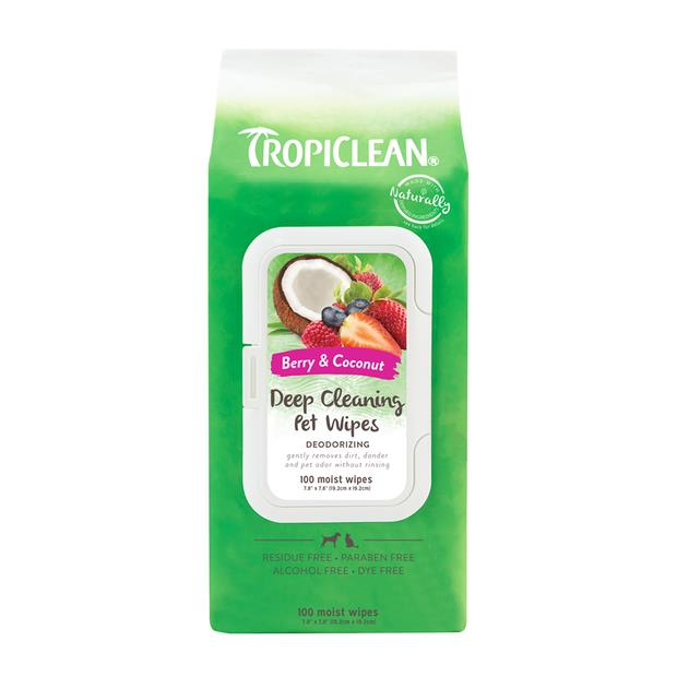 Tropiclean Deep Cleaning Wipes 100 Pack Pet: Dog Category: Dog Supplies  Size: 0.8kg  Rich Description:...