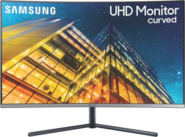 Display a large viewing area with this Samsung monitor's 32-inch screen. It has Ultra HD video, so you...