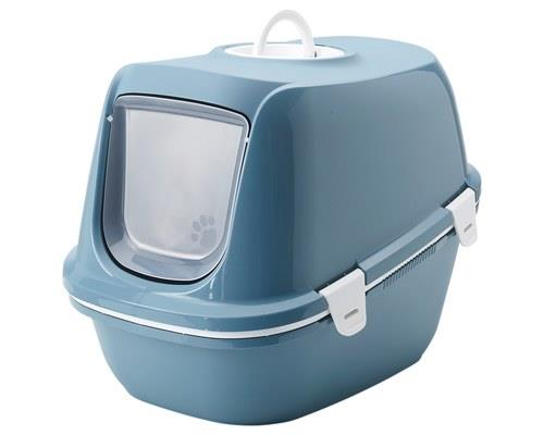 SAVIC REINA SIFT HOODED CAT LITTER TRAY BLUEWe all know your cat is the queen (or king) of the house...