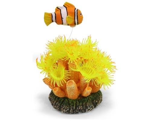 KAZOO SOFT CORAL W/CLOWN FISH W/AIR - SMALLThe soft silicone of this tank ornament moves and flows with...
