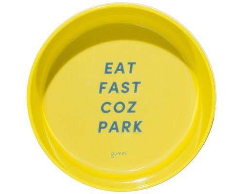GUMMI PET TEXT MELAMINE BOWL YELLOW MEDIUMIf your dog tends to gobble their food with the voracity of a...