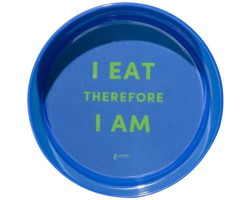 GUMMI PET TEXT MELAMINE BOWL BLUE SMALLDurable and robust, these boldly coloured dog bowls are made...