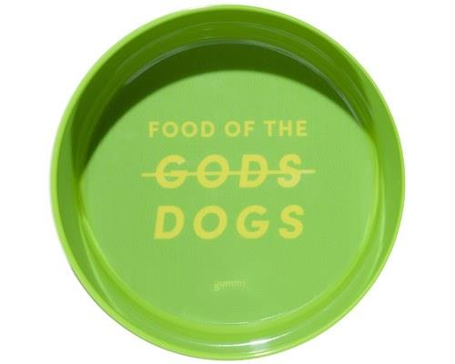 GUMMI PET TEXT MELAMINE BOWL GREEN MEDIUMGet back Zeus! This is the food of the dogs.Gummi dog bowls...