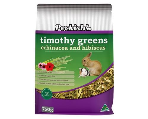 PECKISH TIMOTHY GREENS 750GRabbits and guinea pigs need to graze regularly to wear down their teeth.
