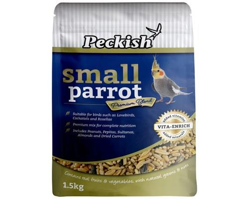 PECKISH SMALL PARROT PREMIUM BLEND 1.5KGContaining real vegetable, greens, dried fruit and nuts, and...