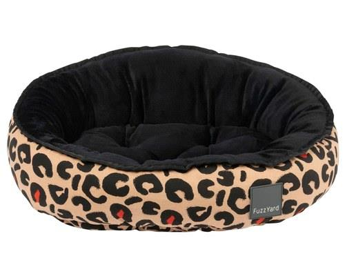 FUZZYARD REVERSIBLE BED - JAVAN MEDIUMTake a nap on the wild side. This leopard print dog bed is...
