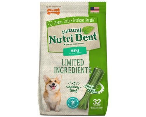 NYLABONE NUTRIDENT FRESH BREATH MINI 32PK 160GHealthy teeth? Check. Healthy gums? Check. Kissable...