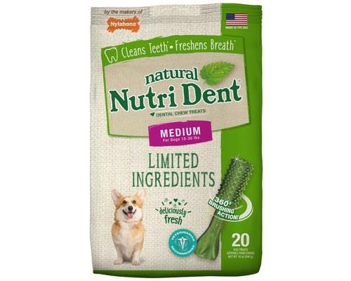 NYLABONE NUTRIDENT FRESH BREATH MEDIUM 540GTo keep Fido's teeth sparkalarkalarkling, vets recommend...